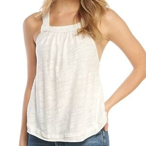 NWT Free People Gauzy Scoop Bottom High Neck Tank